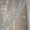 uMIXm Tulle & Star Cut Out Blackout Curtains