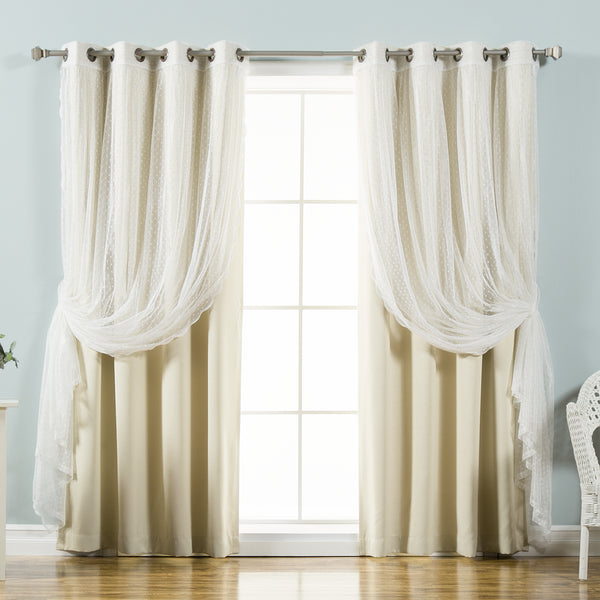 uMIXm Dot Lace & Blackout Curtains