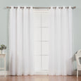 uMIXm Dot Lace & Nordic White Curtains