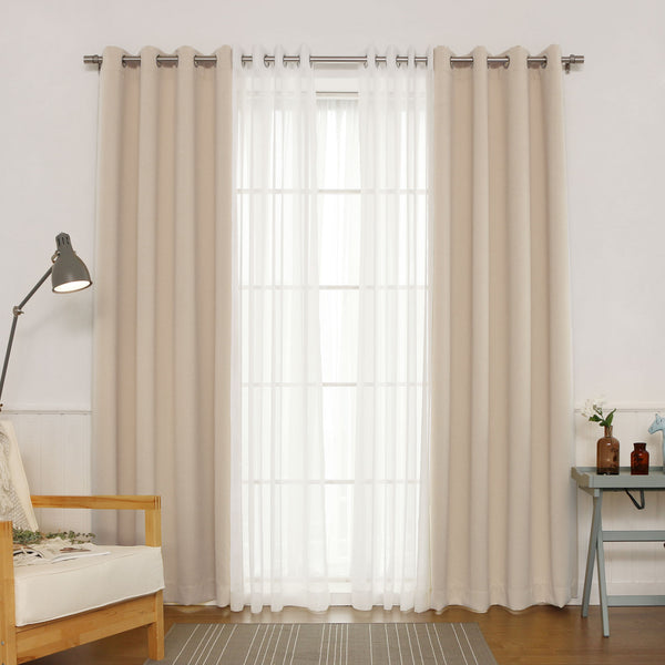 uMIXm Sheer Faux Linen & Blackout Curtains