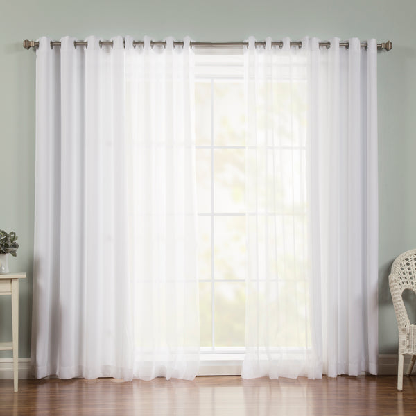 uMIXm Voile & Nordic White Curtains