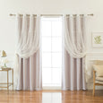 uMIXm Sheer Chandelier & Blackout Curtains