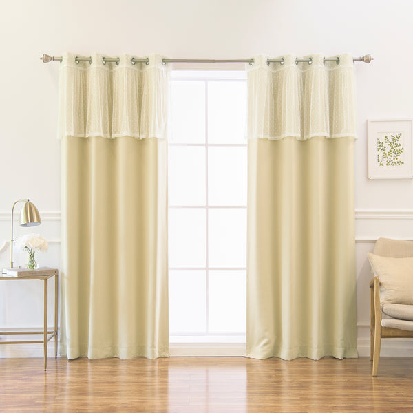 uMIXm Sheer Dot Valance & Blackout Curtains