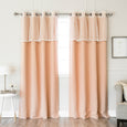 uMIXm Lace Trim Valance & Blackout Curtains