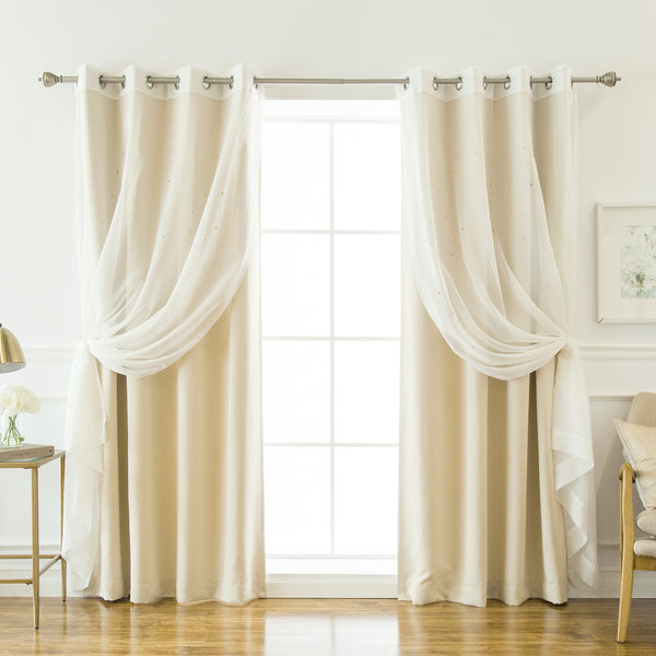 uMIXm Sheer Star Cut Out & Blackout Curtains