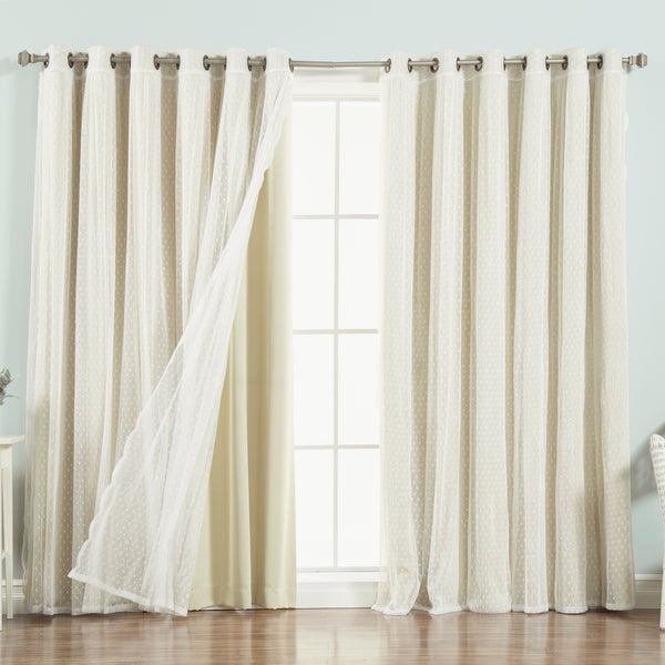 uMIXm Wide Dot Lace & Blackout Curtains