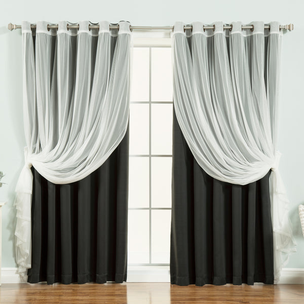 uMIXm Wide Tulle & Blackout Curtains