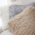 Faux Mongolian Lamb Fur Pillow
