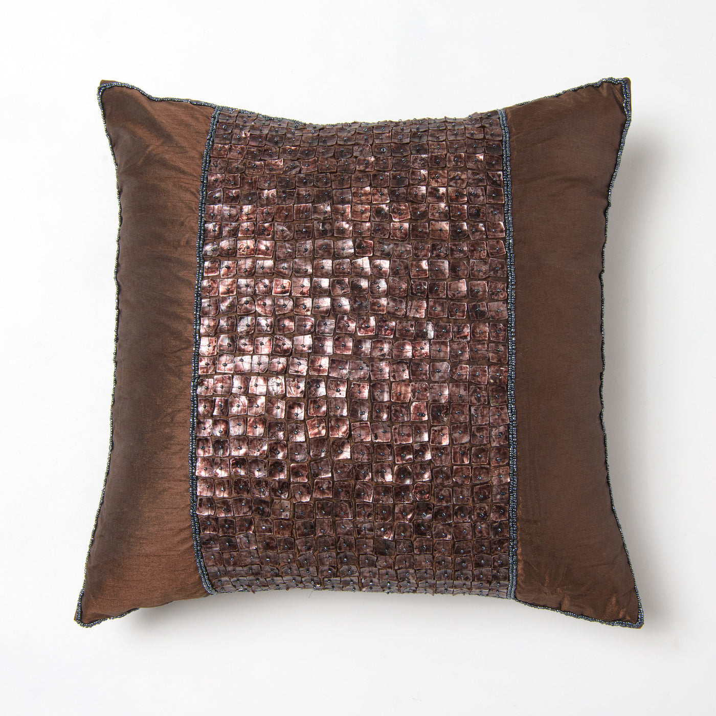 Faux Silk Mother of Pearl Pillow