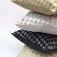 Metallic Houndstooth Velvet Pillow Cover