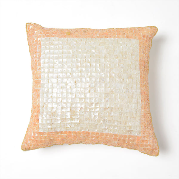 Bordered Mother of Pearl Pillow