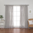 Faux Linen Pinch Pleat Curtain