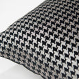 Small Metallic Houndstooth Velvet Pillow Cover