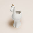 White & Gold Ceramic Giraffe Planter