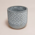 Diamond Pattern Cement Planter
