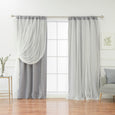 Tulle Overlay Blackout Curtains