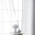 Sheer Faux Linen Ombre Border Curtains
