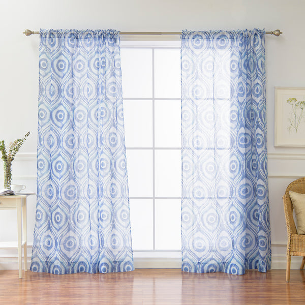 Sun Burst Shibori Curtains