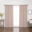 Cotton Blend Slubby Blackout Curtains