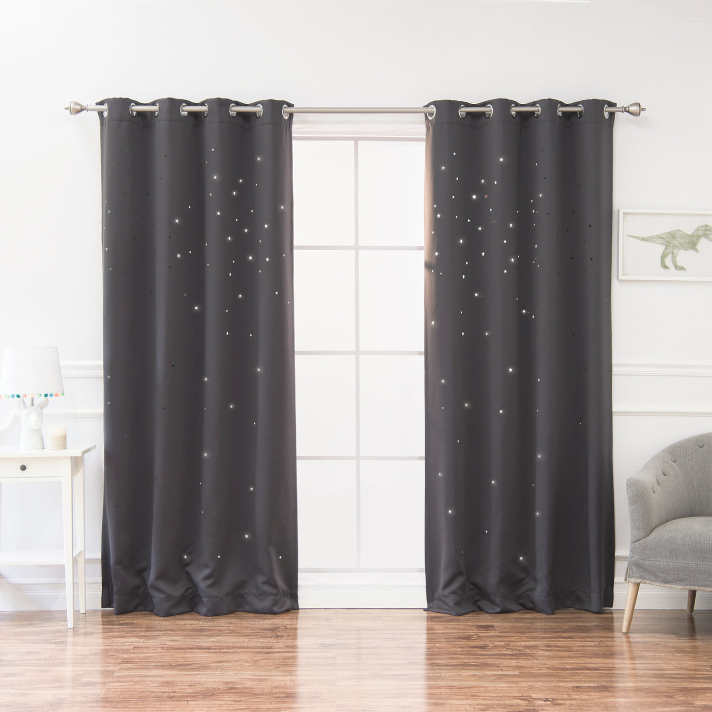 Star Cut Out Blackout Curtains