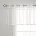 Sheer Lace Trim Valance