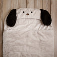 Faux Fur Plush Hooded Animal Sleeping Bag