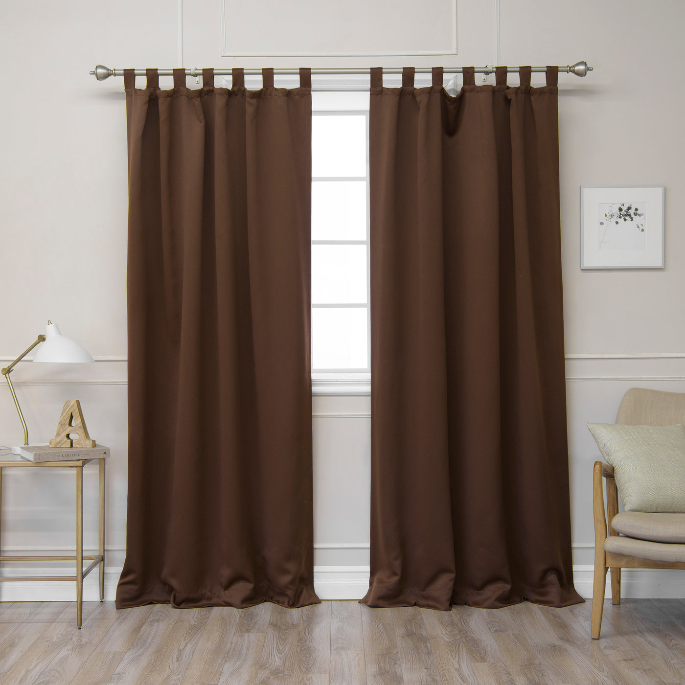Basic Tab Top Blackout Curtains