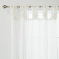 Sheer Faux Linen Twist Tab Curtains