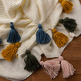 Big Tassel Knit Throw