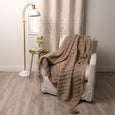 Diagonal Pattern Tassel Throw