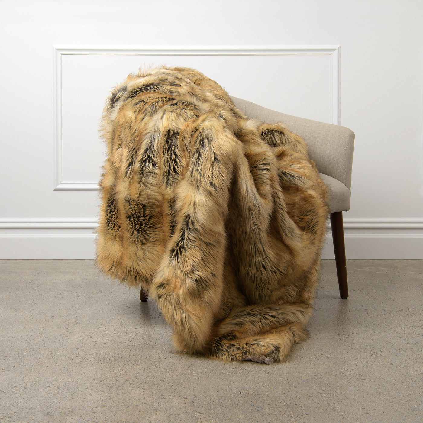 Faux Fur Throw - Amber Fox