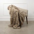 Faux Fur Throw - Pearl Finn Raccoon