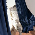 Luster Velvet Ruffle Curtains