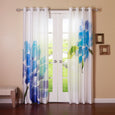 Faux Silk Watercolor Flower Curtains