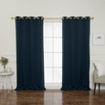 Gold Grommet Blackout Curtains