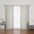Linen Blend Triple Stripe Curtains