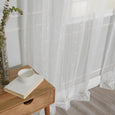 Sheer Embroidered Triangle Curtains