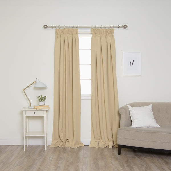 Pencil Pleat Blackout Curtains
