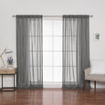 Sheer Faux Linen Curtains