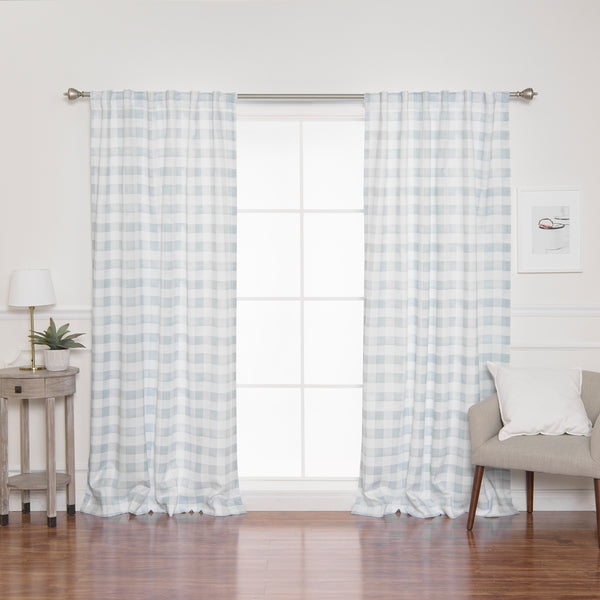 Nordic Watercolor Check Curtains