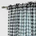Faux Linen Sheer Houndstooth Curtains