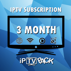 IPTV 3 MONTHS SUBSCRIPTION PACK SMART IPTV+ VOD AND SERIES