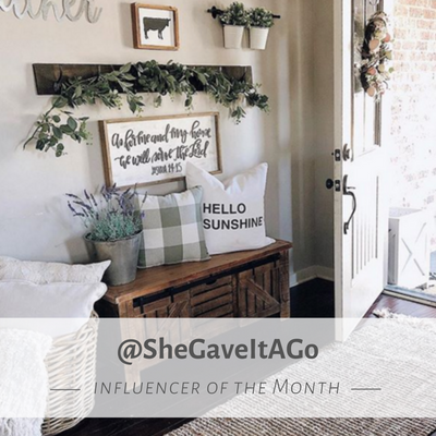 Influencer Spotlight - @shegaveitago