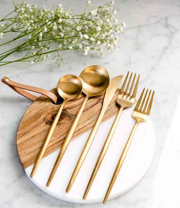 Lina Gold Flatware, 5-20 piece sets