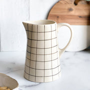 Windowpane Stoneware Pitcher
