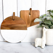 Maison Wood + White Serving Boards