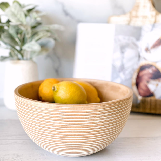 Leila Wood Serving Bowl