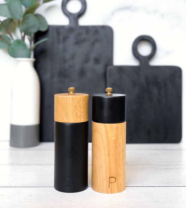 Zephyr Salt + Pepper Mills, Set of 2