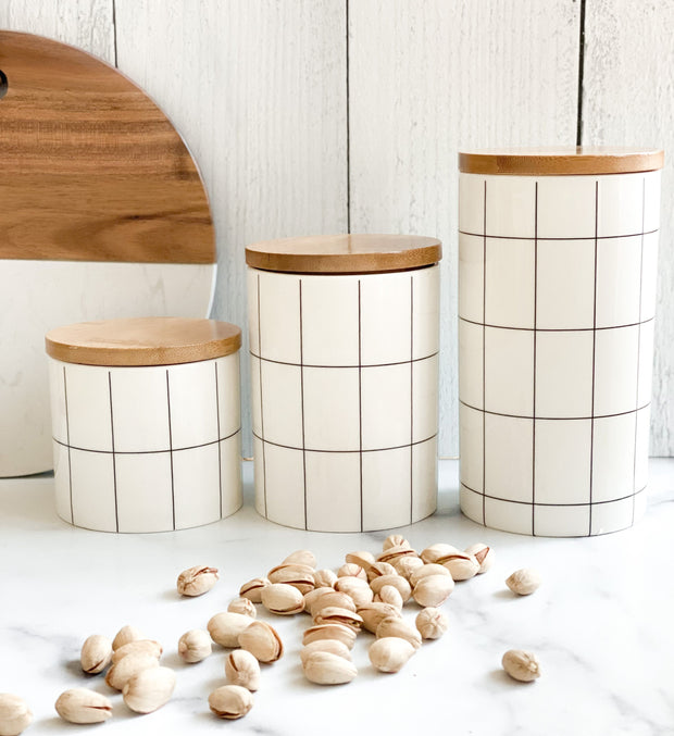 Ceramic Farmhouse Canisters