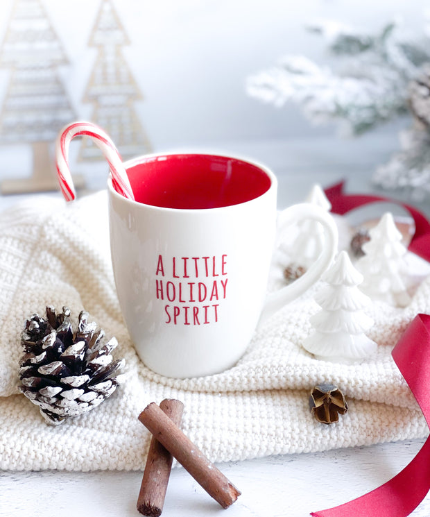 Stoneware Holiday Mugs, 4 Styles